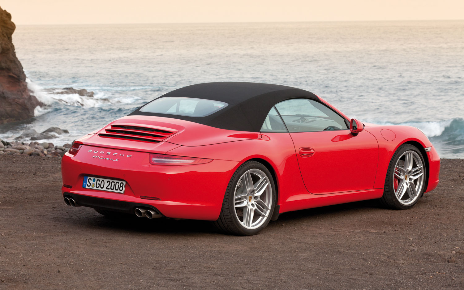 2012 porsche 911 cabriolet exterior rear quarter top
