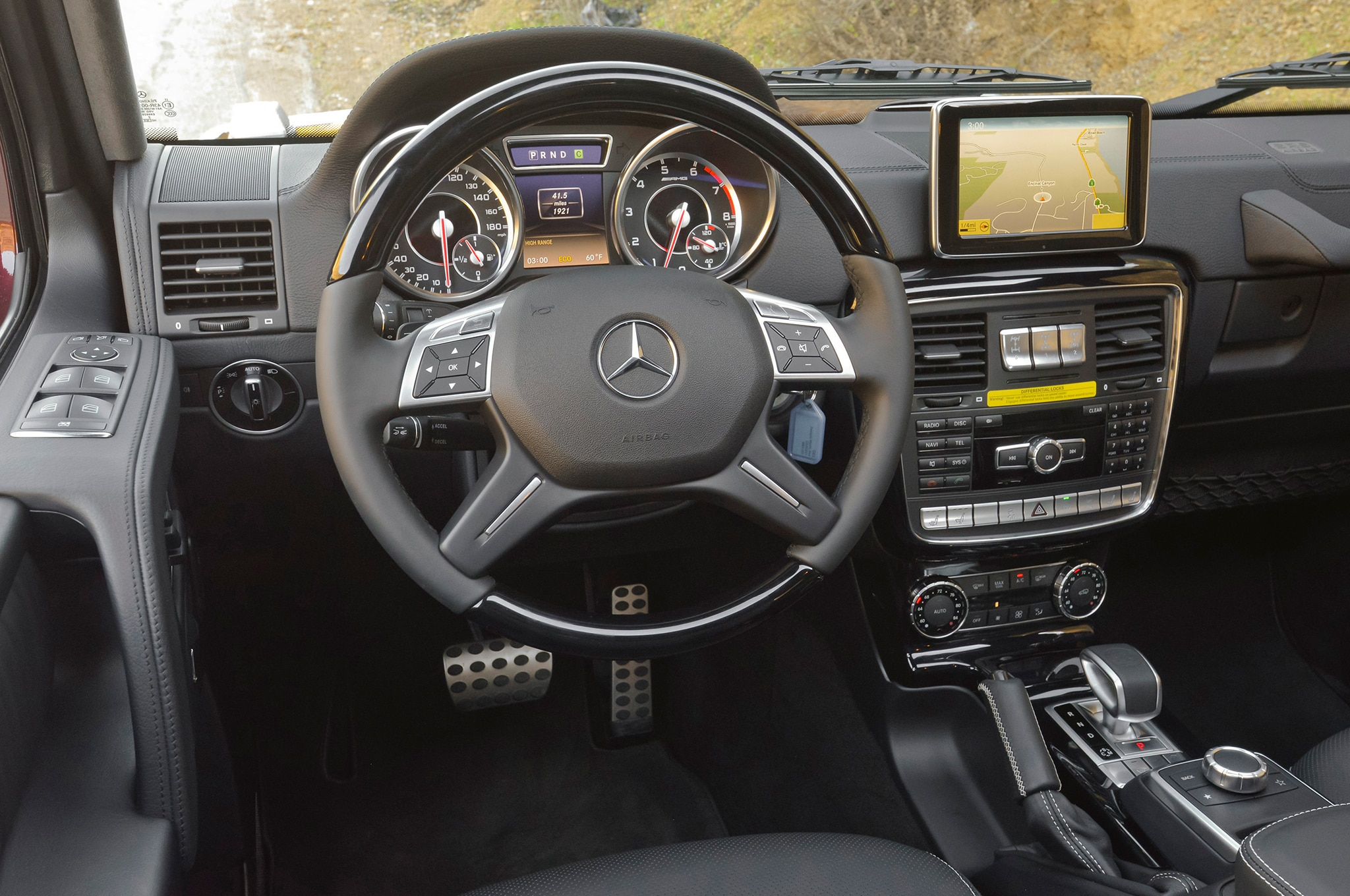 First drive 2013 mercedes benz g63 amg automobile magazine for Mercedes benz inside view