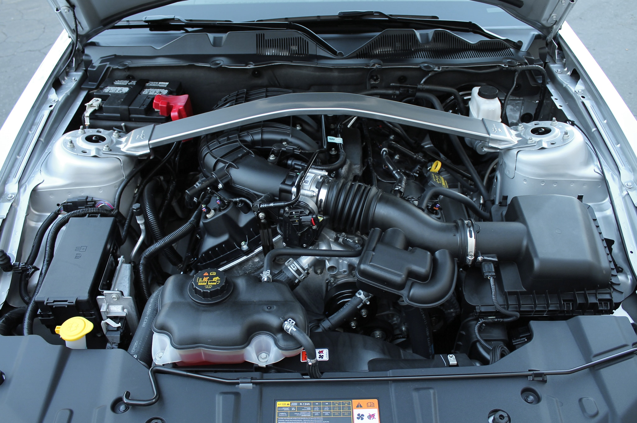 2014 ford mustang gt adds supercharger, yellow paint for sema
