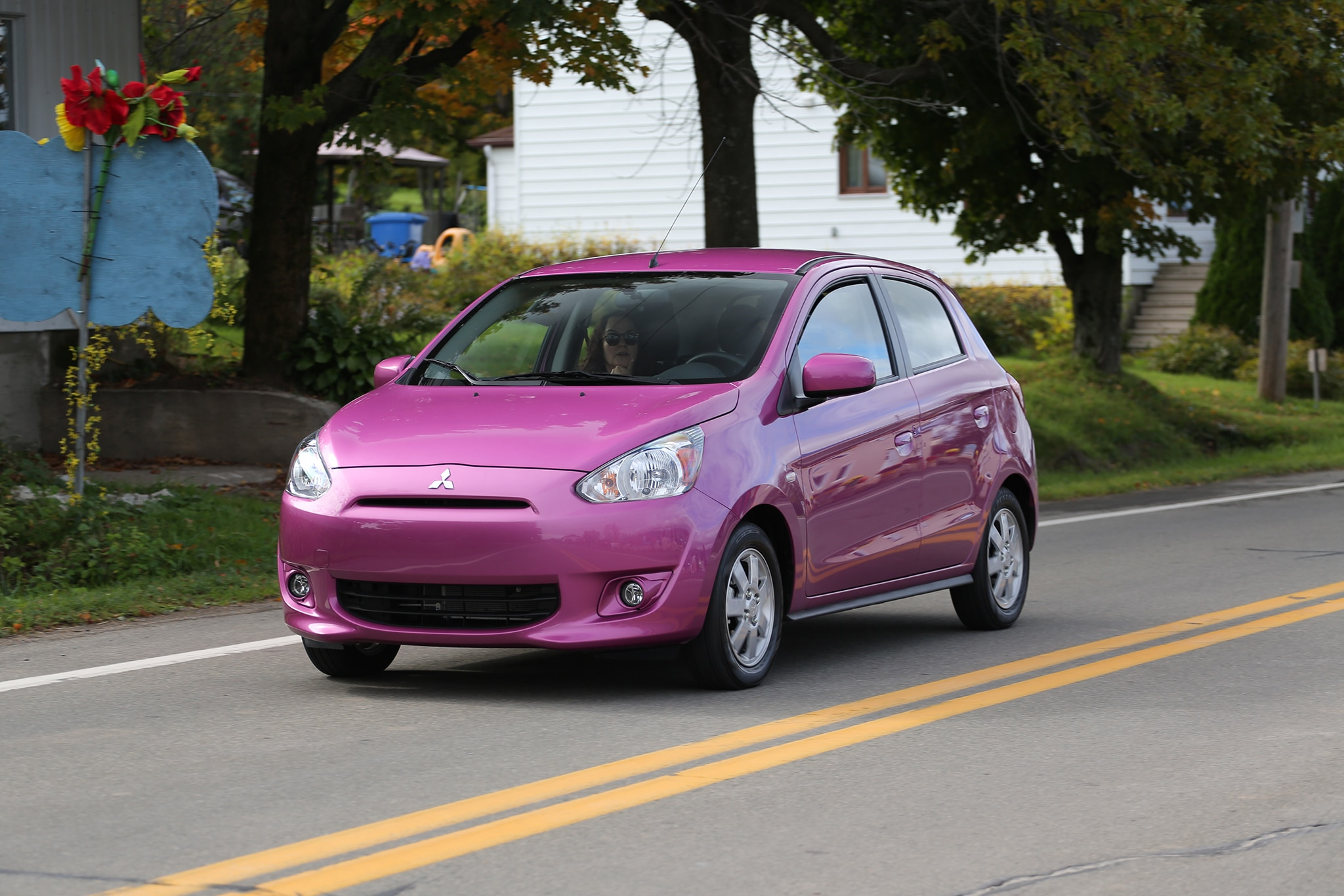 2014 mitsubishi mirage es around the block automobile magazine 2014 mitsubishi mirage