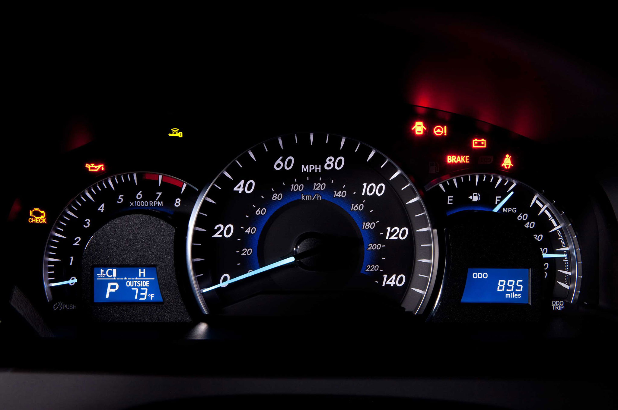 2014-Toyota-Camry-XL-gauges-view Cool toyota Camry 2008 Dashboard Warning Lights Cars Trend