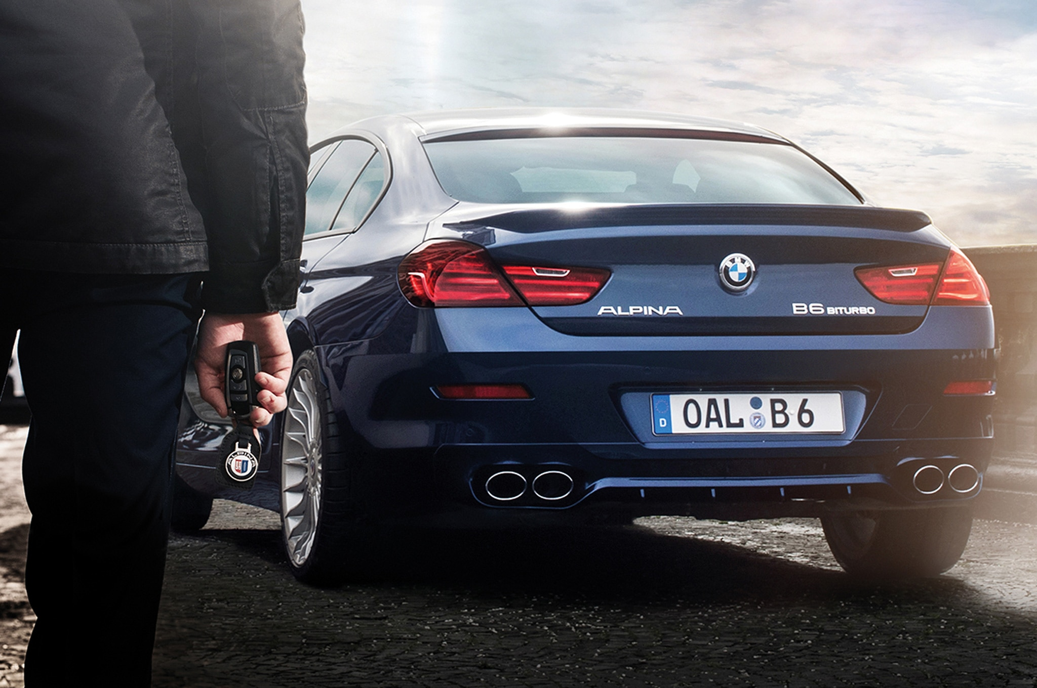 2015 bmw alpina b6 xdrive gran coupe from behind