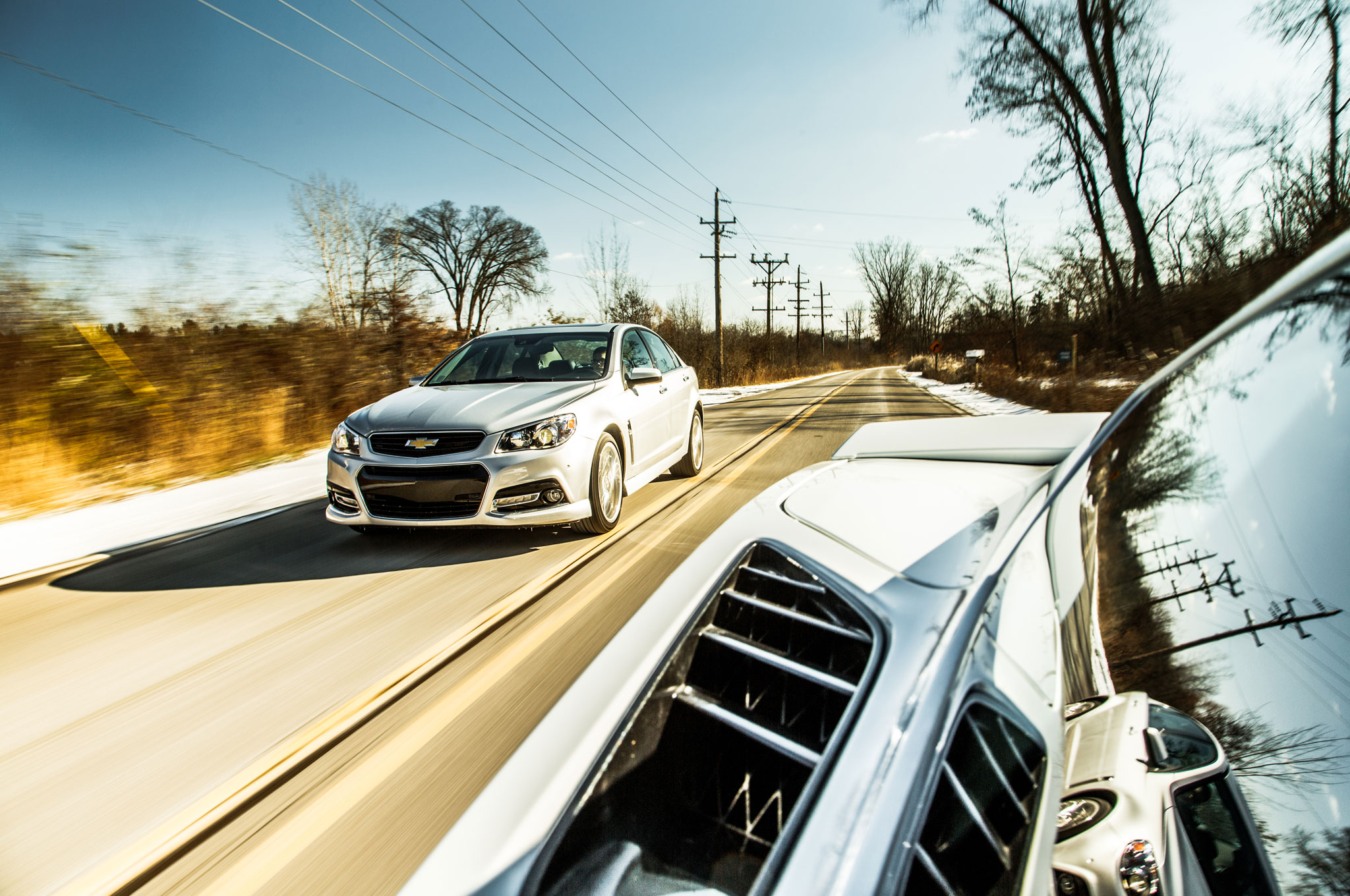 2015 chevrolet ss front three quarter in motion 6 4 101