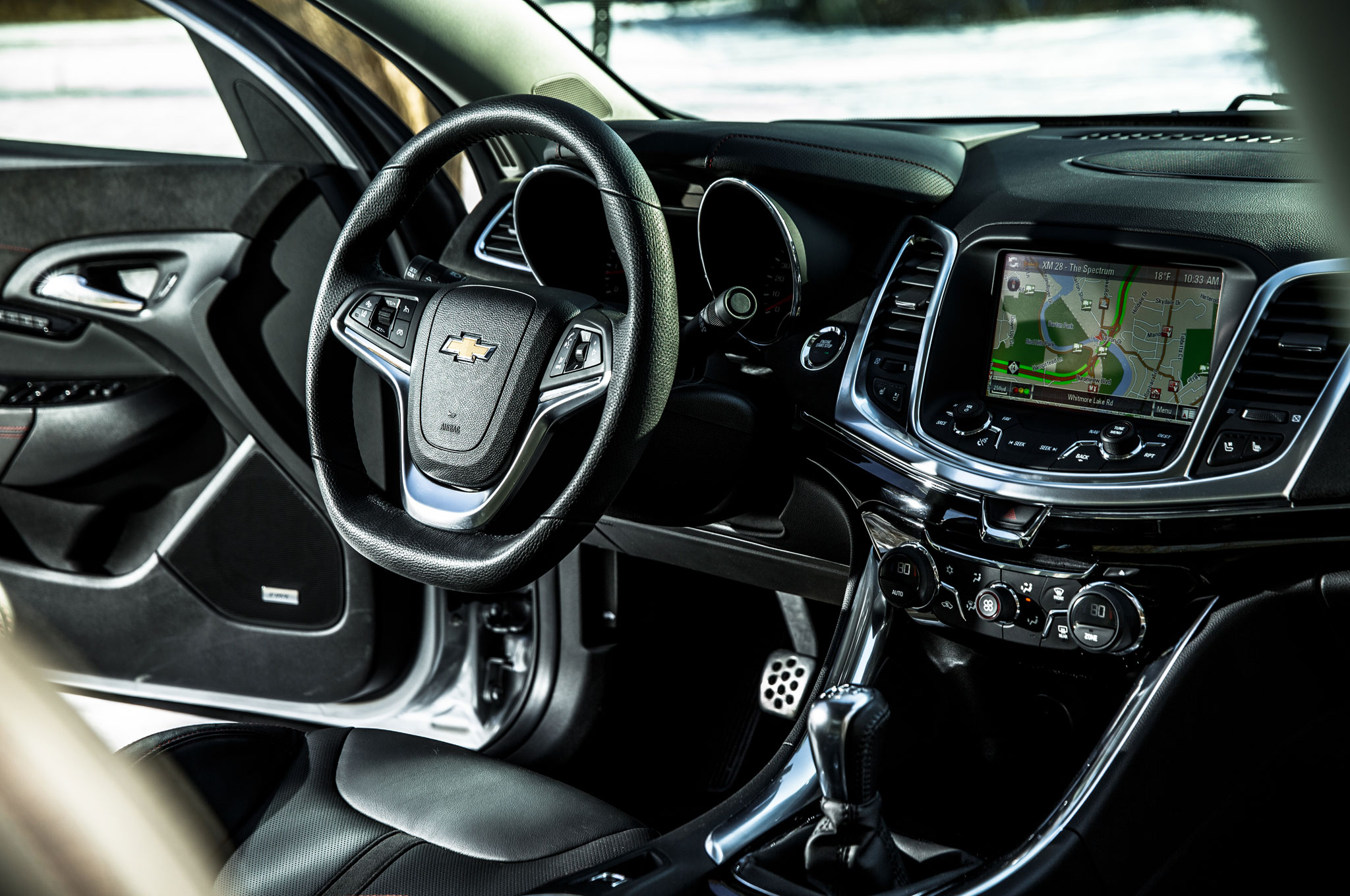 2015 Chevrolet SS Steering Wheel And Navigation Display