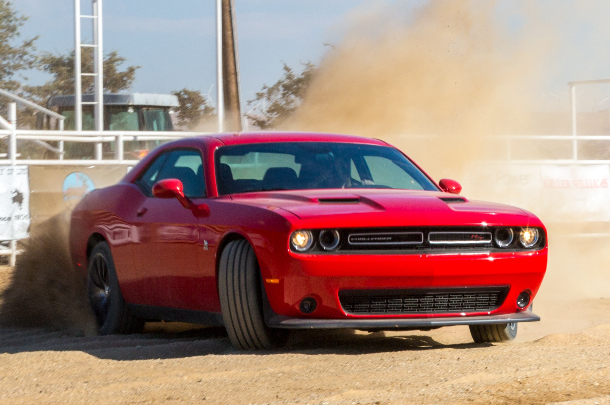 Driving A 2015 Dodge Challenger Hellcat In A Snowstorm