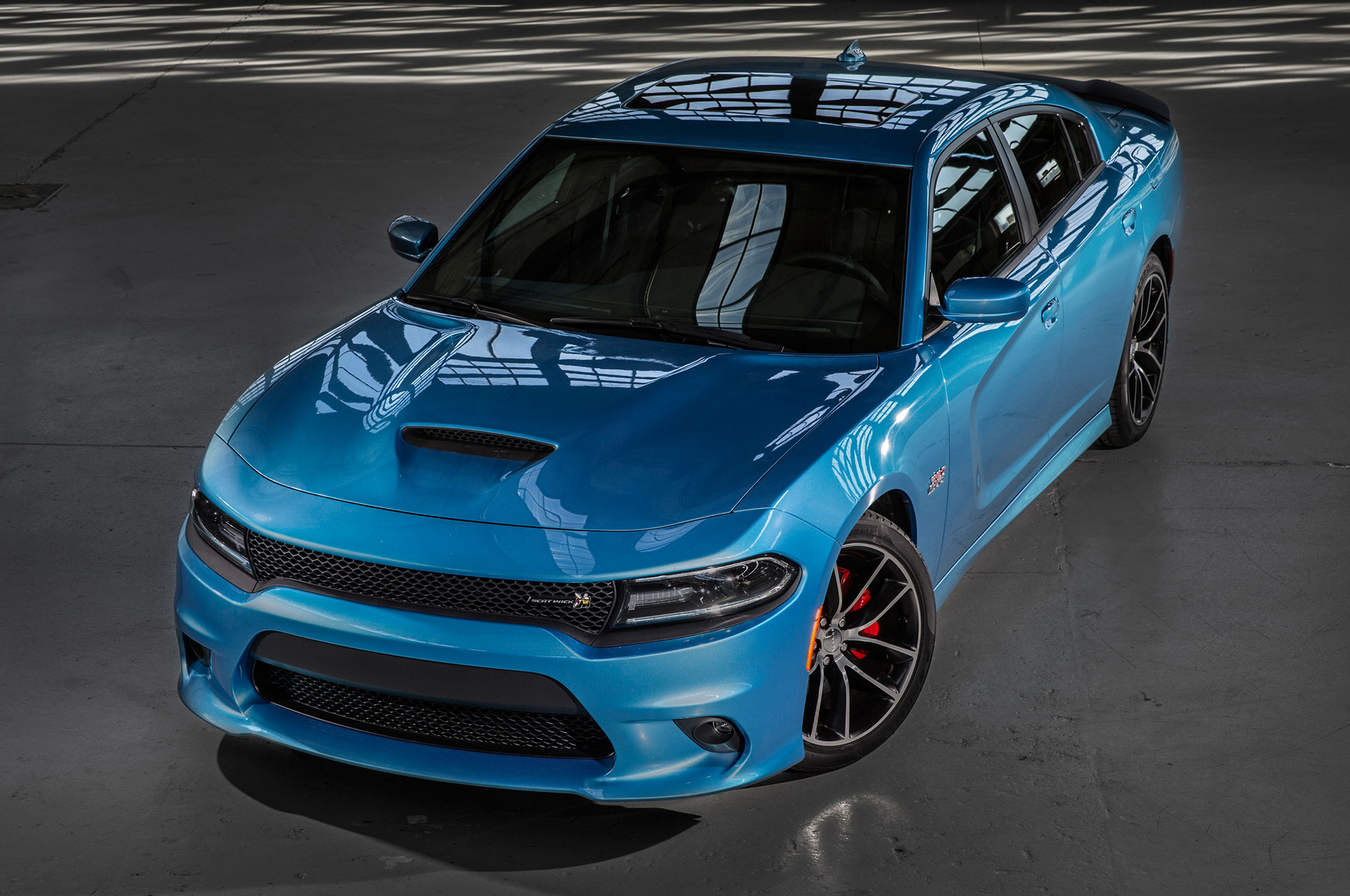 2015 Dodge Charger RT Scat Pack Above Front Three Quarter View. 17|250.  2015 Dodge Charger ...