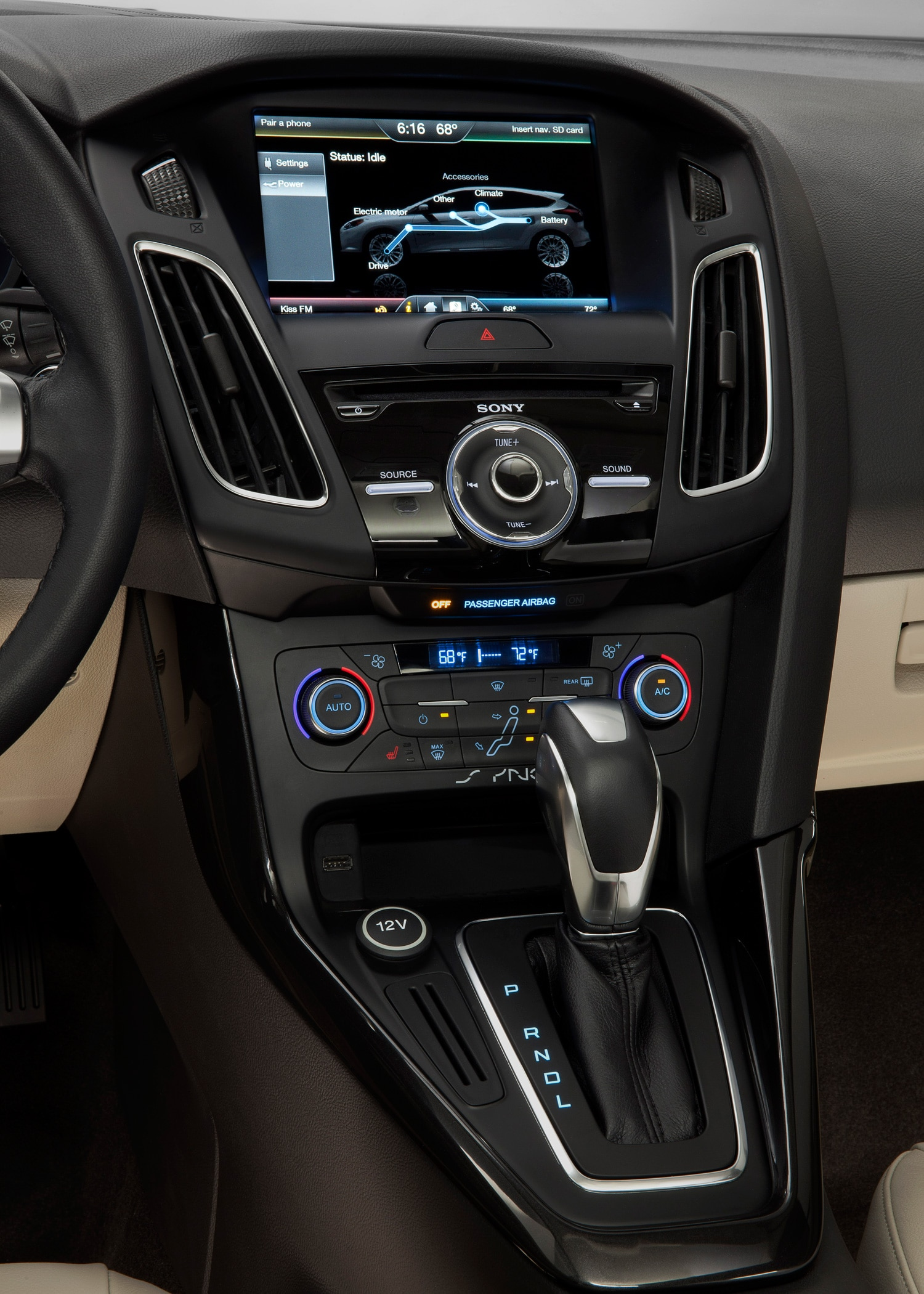 2015 ford focus electric interior center stack