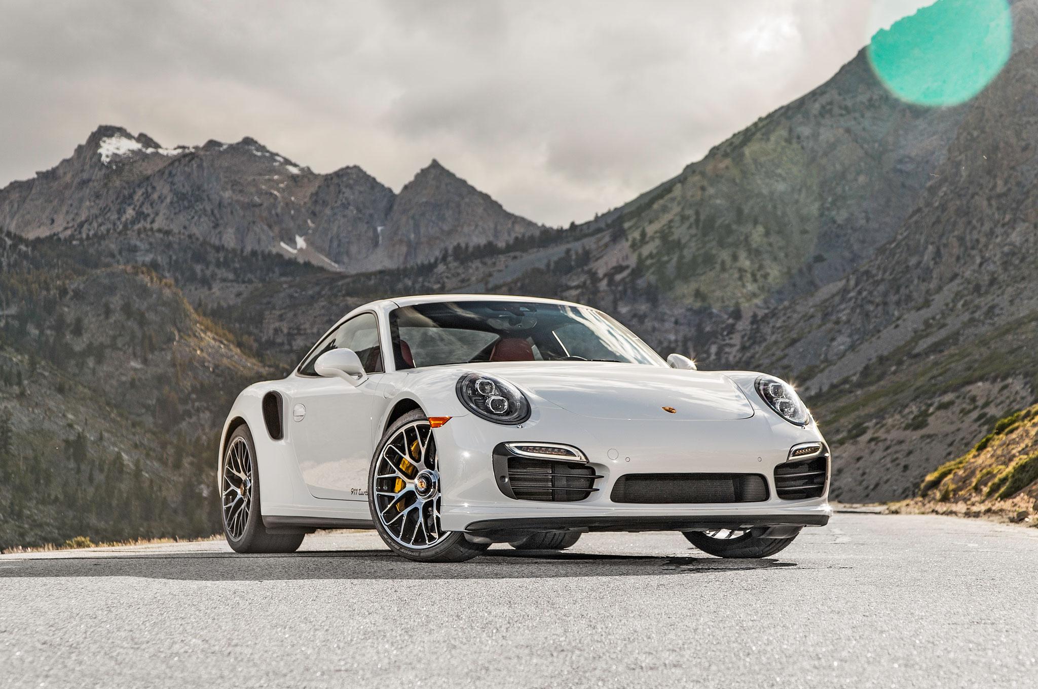 2015 porsche 911 turbo s front three quarter