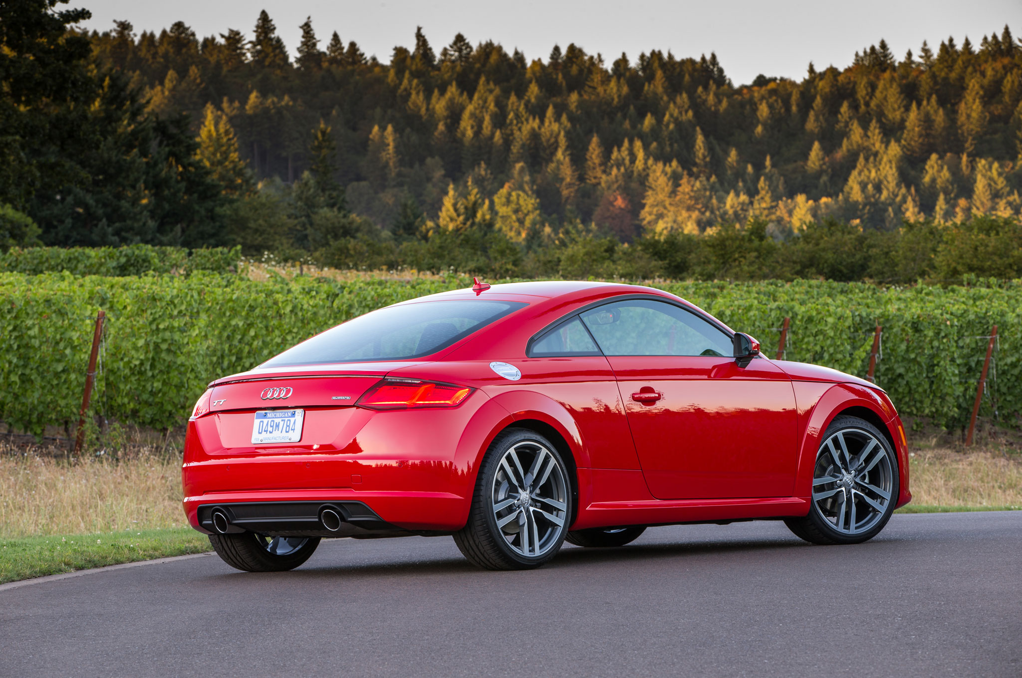 audi tt rs coupe convertible charge into beijing with 394 hp automobile magazine. Black Bedroom Furniture Sets. Home Design Ideas