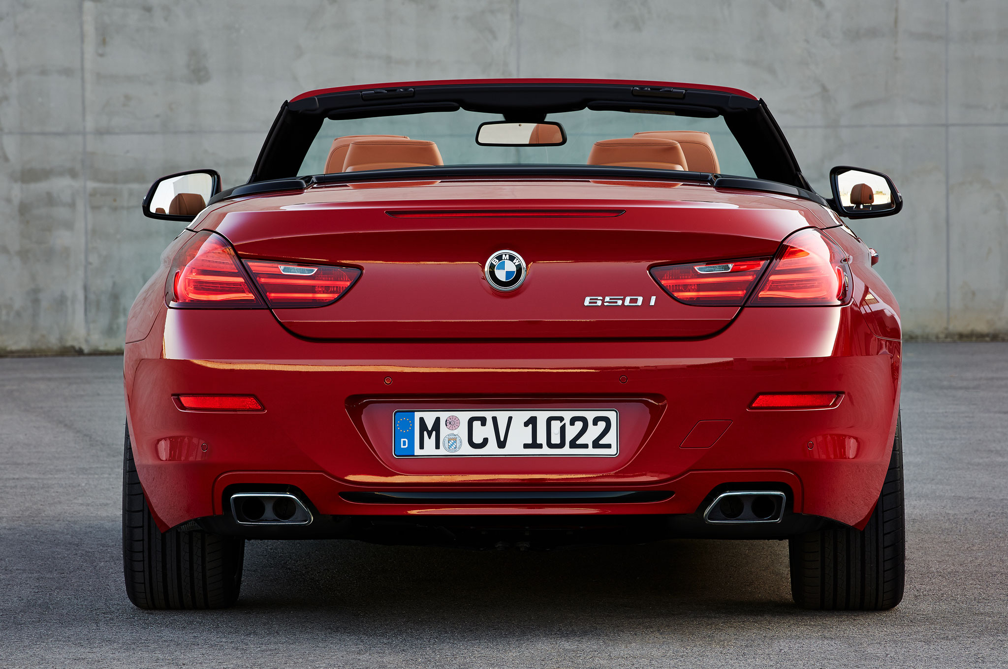 2016 BMW 6 Series Convetible Rear View