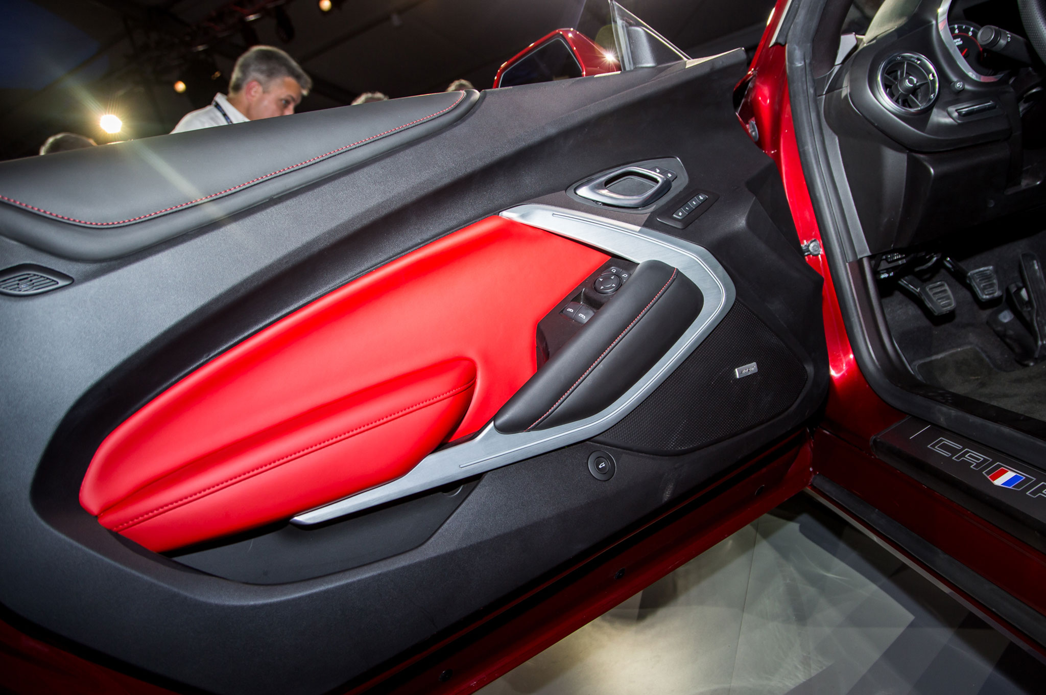 2016 Chevrolet Camaro Ss Red Black Accent Concepts Head