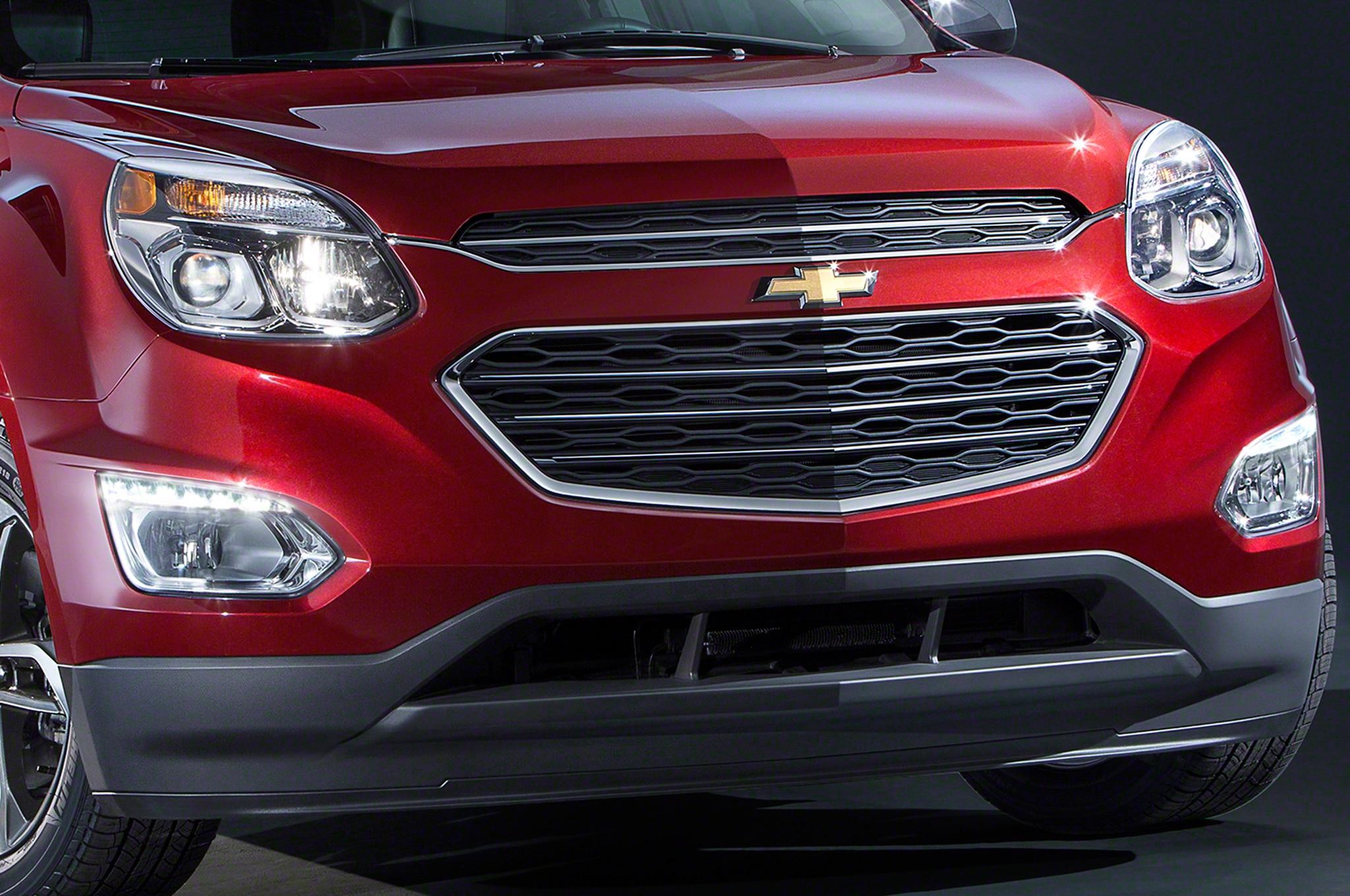 2016 Chevrolet Equinox LTZ front clip closeup refreshed 2016 chevrolet equinox teased Solstice and Equinox Diagram at readyjetset.co