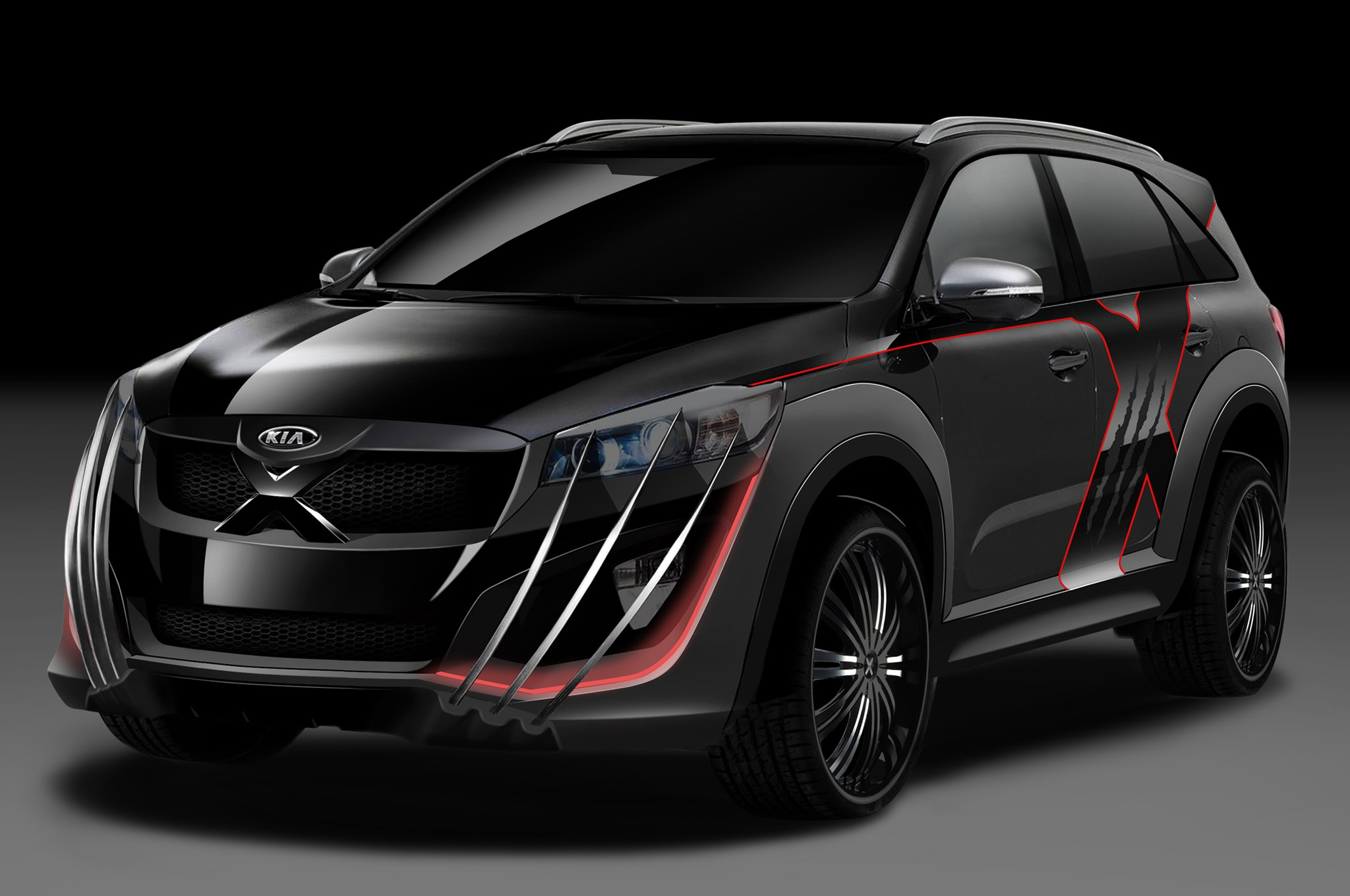 kia builds x men inspired 2016 sorento photo gallery. Black Bedroom Furniture Sets. Home Design Ideas