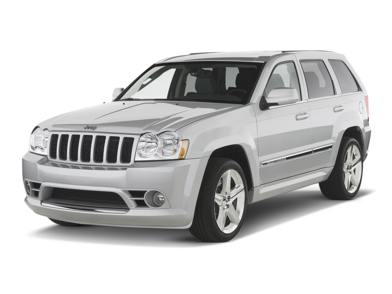Jeep Grand Cherokee Srt Suv Angular Front on Overland Range Rover Sport