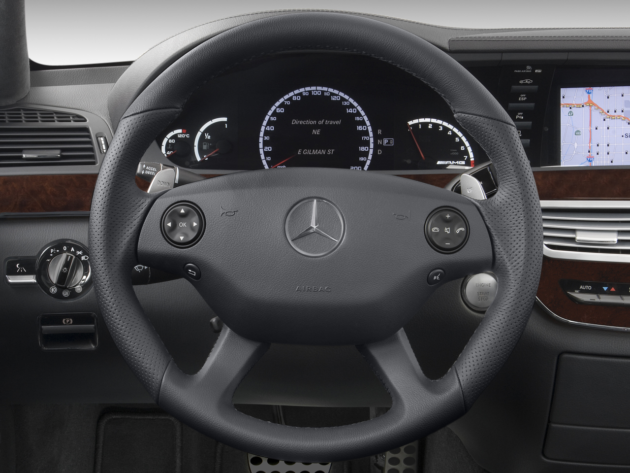 Mercedes benz vision s500 plug in hybrid to be unveiled at for Mercedes benz steering wheel