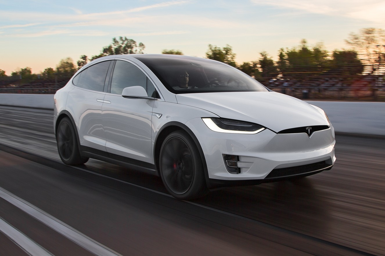 watch the tesla model x bioweapon defense mode in action automobile magazine. Black Bedroom Furniture Sets. Home Design Ideas