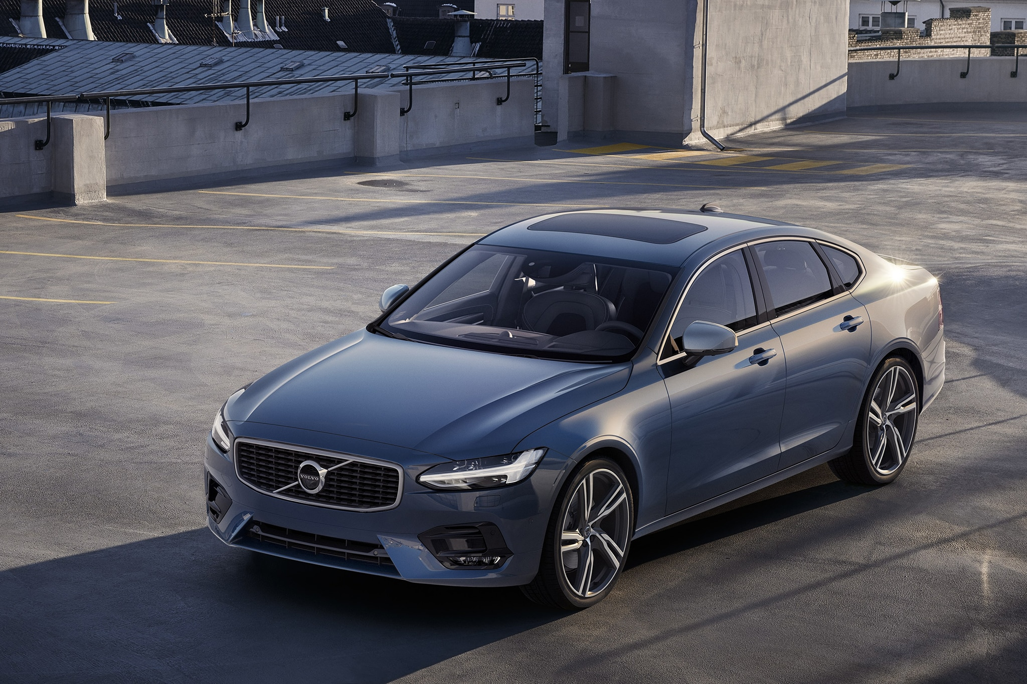 2017 volvo s90 luxury sedan fully revealed with xc90 inspired design. Black Bedroom Furniture Sets. Home Design Ideas