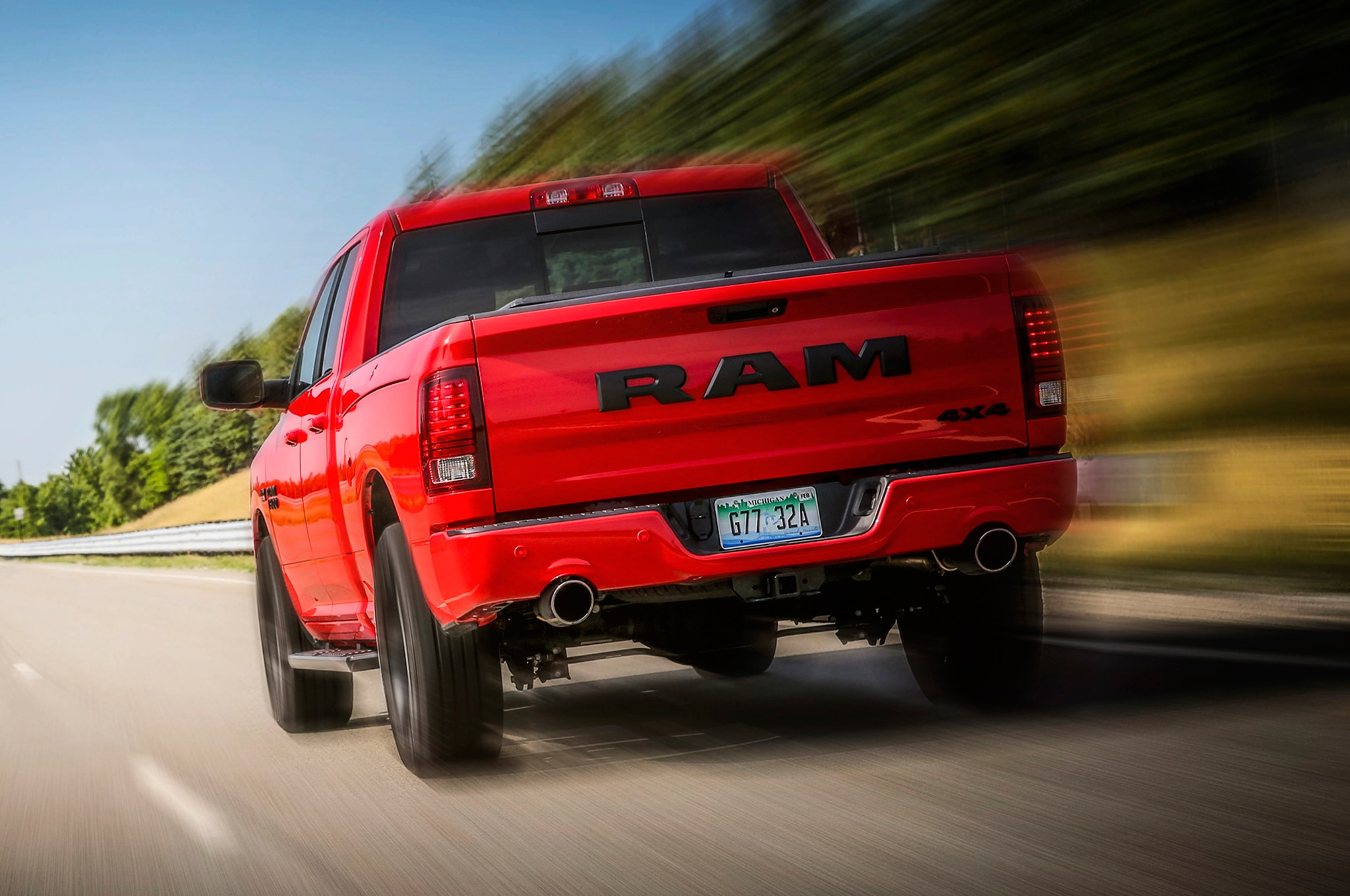 2017 ram 1500 rebel spiced up with new delmonico red paint automobile magazine. Black Bedroom Furniture Sets. Home Design Ideas