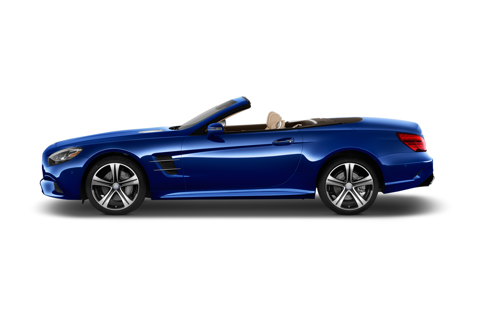 2017 mercedes benz sl roadster shows its new face in l a for Convertible mercedes benz 2017