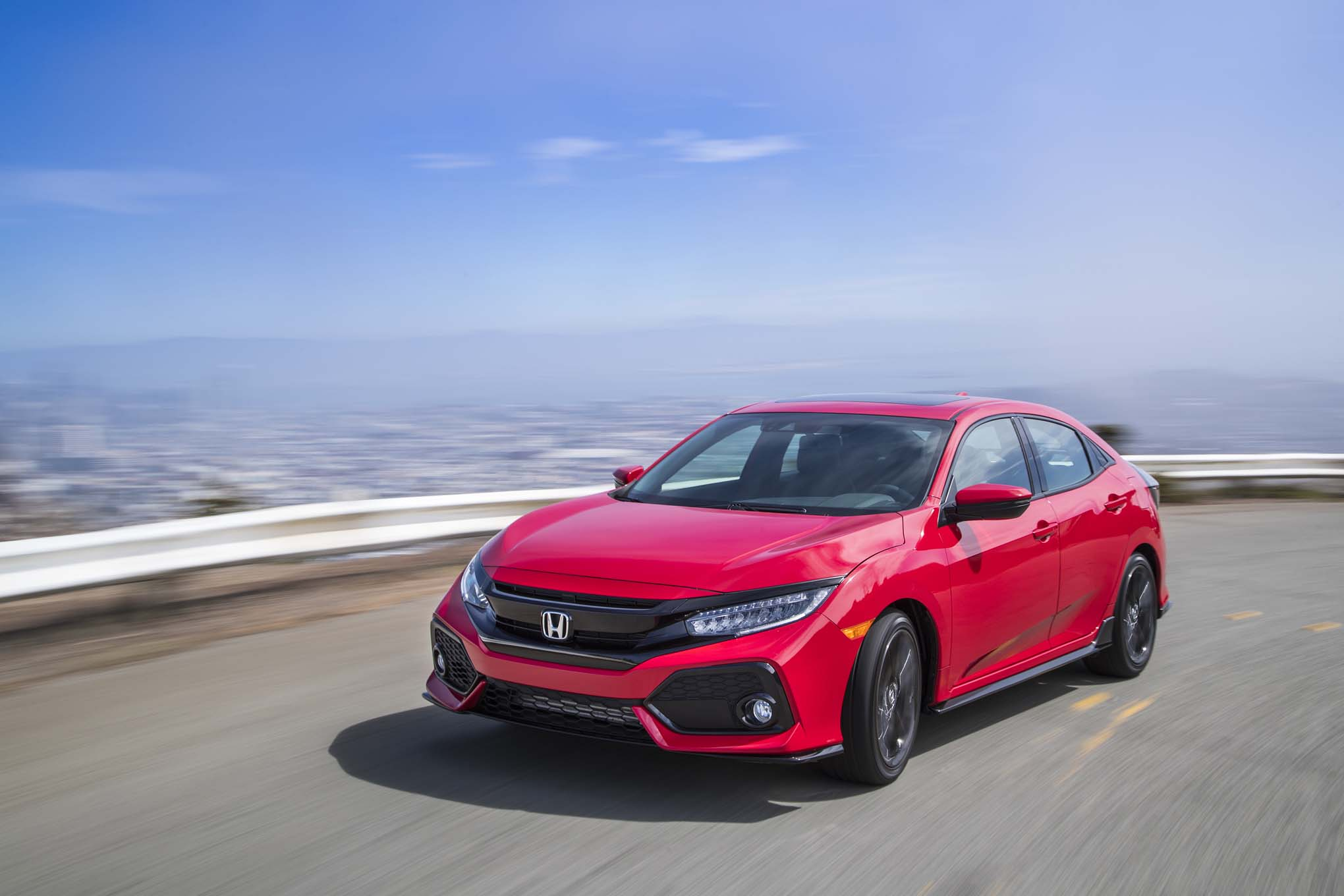 2017 honda civic hatchback prototype revealed in new york. Black Bedroom Furniture Sets. Home Design Ideas