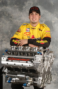 Hornish, with Chevy's lackluster Indy V8.