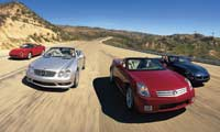 0306_Comparo_pl Cadillac_XLR_And_Jaguar_XKR_And_Maserati_Spyder_And_Mercedes_Benz_SL500 Front_View