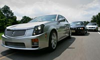 0409_S4pl CadillacCtsVbmwm3AudiS4_Cadillac_CTSV_And_BMW_M3_And_Audi_S4 Various_Front_Views