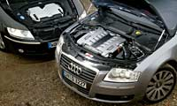0407_A8pl_Audi_A8l_Volkswagen_Phaeton Audi_A8L_6_0_And_Volkswagen_Phaeton_W12 Full_Engine_Views