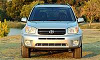 0501_Suvspl_Mini_Suv_Comparo 2005_Toyota_RAV4 Full_Front_Grill_View