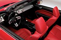 ford mustang convertible interior. when you bend the mustang convertible into a corner it takes set quickly unlike previousgeneration car ford interior