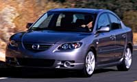 0503_3pl Chevrolet_Cobalt_Mazda_3_Mazda_3 Driver_Side_Front_View