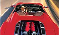 0506 Pl 2005 Ferrari F430 Spider Overhead Rear View