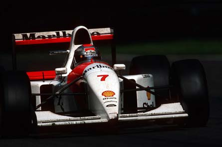 Michael Andretti's third place at Monza (above) was the only podium appearance of his 1993 campaign.