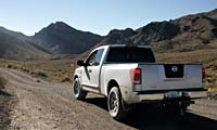 0508 Pl 2004 Nissan Titan Pickup Rear Left Side View