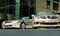0512_pl 2006_Mercedes_Benz_SL_and_2006_Mercedes_Benz_SLK_Diesel Front_View