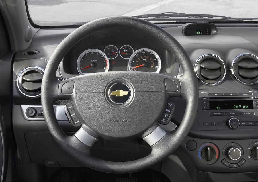 Naias Chevrolet Aveo Dashboard View