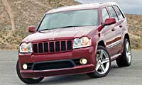 0602 01pl Jeep Grand Cherokee Srt8 2006 Jeep Grand Cherokee SRT8 Full Front Grill View