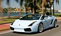 0603 Pl 2007 Lamborghini Gallardo Spyder Front Drivers Side View