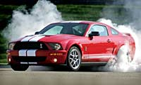 0607 Pl 2007 Ford Shelby Gt500 Front Burnout