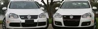 0712 09 Pl 2008 Volkswagen R32 And 2007 Volkswagen Gti Front View