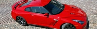 0805 10 Pl 2009 Nissan GT R Top Three Quarter View