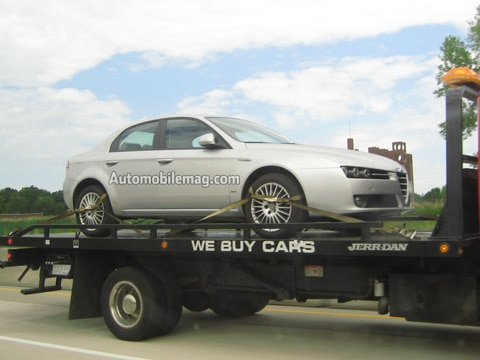 alfa romeo 159 sedan spotted in the u.s. - latest news, features