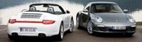 0806_04_pl 2009_porsche_911_carrera_4S_convertible 2009_porsche_carrera_4_coupe