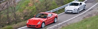 0807_05_pl Aston_martin_dBS_and_ferrari_599_gTB In_maranello_italy