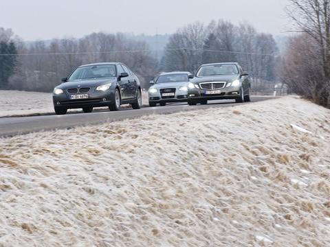 2010 Mercedes Benz E350 2009 Audi A6 2009 BMW 528i  Luxury