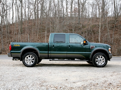 2009 ford f 250 cabela 39 s edition 4x4 crewcab ford fullsize pickup review automobile magazine. Black Bedroom Furniture Sets. Home Design Ideas