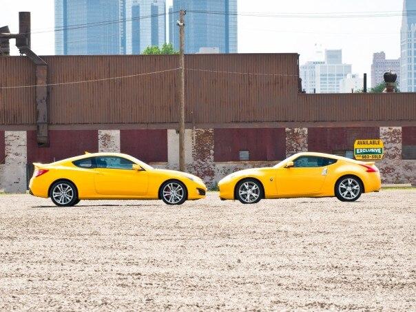 0908 05 Z 2009 Nissan 370Z Sport 2010 Hyundai Genesis Coupe 38 Track 604x453