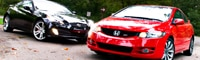 0909_08_pl 2010_honda_civic_si_coupe Vs_2010_hyundai_genesis_coupe _20T_track