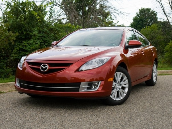 0910 02 Z 2010 Mazda6i Touring Plus Front Three Quarter View 604x453
