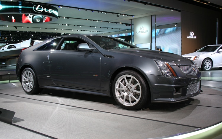 1001 02 Z 2011 Cadillac CTS V Coupe Front Three Quarter View